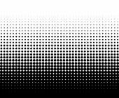 Abstract halftone circles element monochrome abstract graphic for DTP prepress or generic concepts