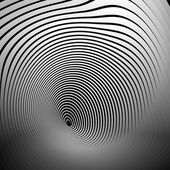 Concentric shapes with deformation effect Abstract grayscale graphics