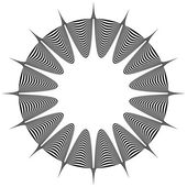 Abstract pointed element Pointed spiky shape blending into a circle Geometric artistic element