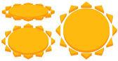 Sun with corona icons Simple geometric clip art