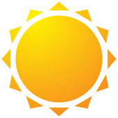 Sun with corona icon Simple geometric clip art