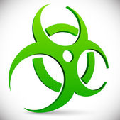 Green Biohazard symbol sign vector illustration