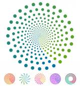 Dots pattern Vector elements made of circles Vector design elements circular dotted symbols motifs