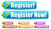 Registrovat a Registrovat nyní tlačítka
