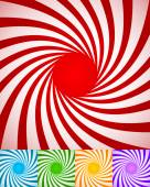 Abstract spirally backgrounds twisted rotating radial lines