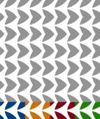 Abstract geometric pattern in 5 colors Artistic background Repeatable vector illustration