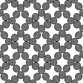 Abstract seamless geometric pattern background Repeatable vector illustration black and white