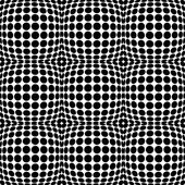 Circles with 3d convex bulging distortion effect Abstract monochrome background pattern vector illustration