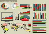 Světová mapa a informační grafika