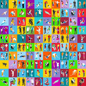 People Flat Icons Set: Vector Illustration\ Graphic Design Collection Of Colorful Icons For Web Websites Print Presentation Templates Mobile Applications And Promotional Materials