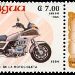 Постер, плакат: Stamp printed in Nicaragua shows Honda 1984