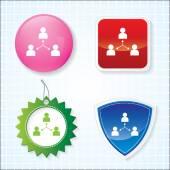 Ikona týmu na různá tlačítka. EPS-10