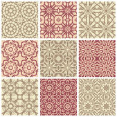 Big set elements for seamless vector patterns Floral geometric ornament Endless texture for wallpaper surface textures pattern fills web page background