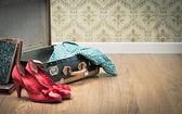 Otevřít vinobraní kufr s botami