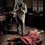 Постер, плакат: Photographer on crime scene