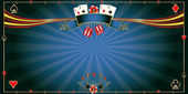 A horizontal casino background for a greeting card