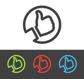 Vektorové palec nahoru ikonu