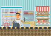 Pracovník dílny v supermarketu