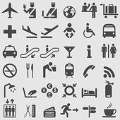 Airport icons set Vector illustration