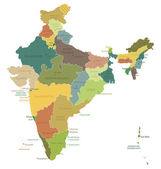 India - highly detailed map Vector illustration