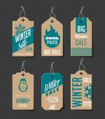 Collection of cardboard sales labels Can be used as price tags