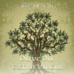 Постер, плакат: Olive Oil Extra Virgin 100 percent health