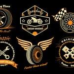 Постер, плакат: Set of racing badge