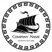 Antike griechische galeere-Logo-Symbol