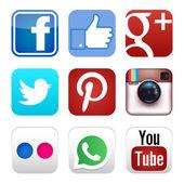 Social media icons set isolated on white background