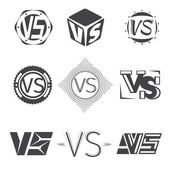 Versus letters logos Competition icons vector set VS monochrome symbol letter illustration