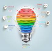 Business thinking timeline Lightbulb with icons Can be used for workflow layout banner diagram web design infographic template