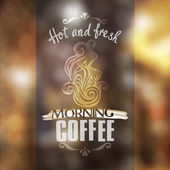 Hot fresh coffee showcase mockup-model for design of gift packs patterns fabric wallpaper web sites etc
