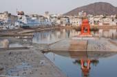 Heiligen See und Ghats in Pushkar, Indien
