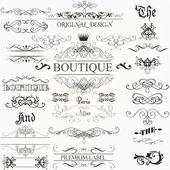 Sada vektorové kaligrafické prvky a stránky dekorace