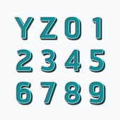 Alphabet set vector illustration type fonts set dot colour style