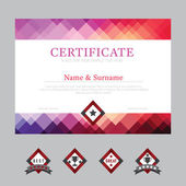 Certificate template layout background frame design vector modern flat art style