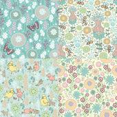 Sada květinovými vzory