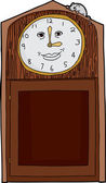 Happy face on antique clock with mouse on top