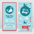 Постер, плакат: Baby boy arrival cards template