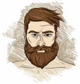 Portrait of imposing man with beard