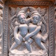 Постер, плакат: Erotic wooden carving motif on a Hindu temple in Nepal