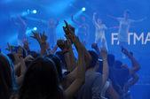 Crowd at a rap concert