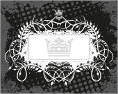 Dekorativní rám s korunou