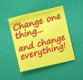Změnit jednu věc