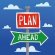 Постер, плакат: Plan Ahead Direction Signs