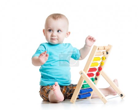 宝宝玩算盘