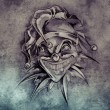 Постер, плакат: Tattoo design over grey background