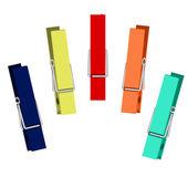 Colorful peg set Vector illustration isolated on white background