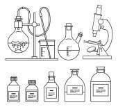 Chemické sklo ikony nastavit