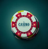 Casino chips top view eps 10